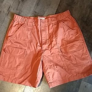Men's Savane Cargo Shorts in Orange